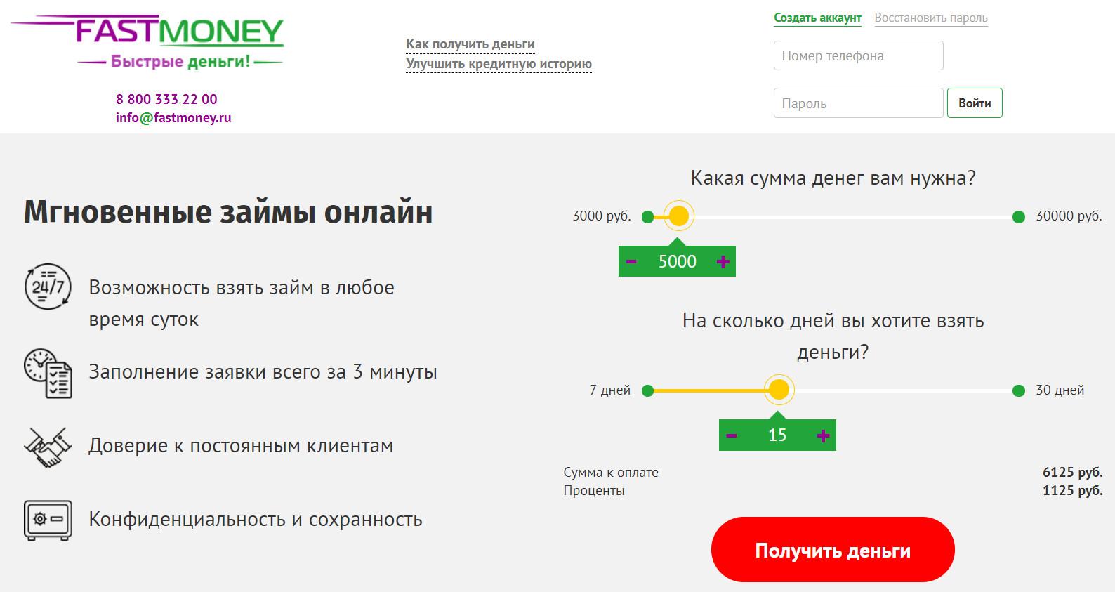 быстрые деньги займ онлайн заявка