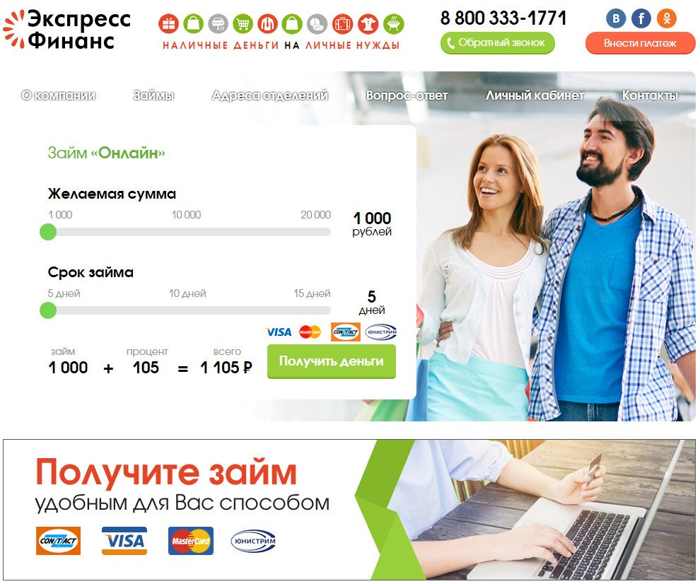 Кредит экспресс финанс личный кабинет